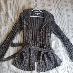 Gray midlenth sweater